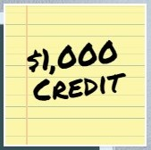 1000 credit with Windsor and Preferred Lender