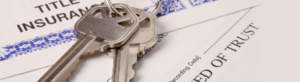 Title company title insurance and keys image